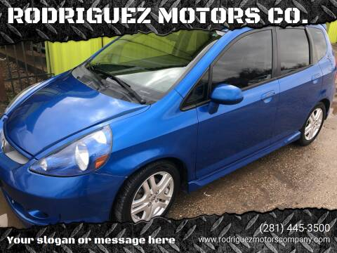 2008 Honda Fit for sale at RODRIGUEZ MOTORS CO. in Houston TX