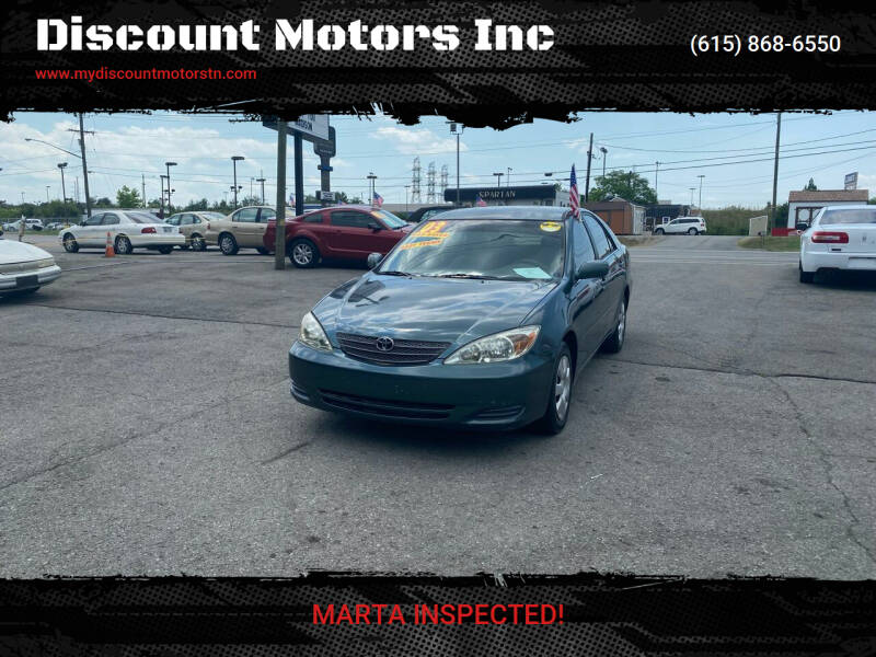 2003 Toyota Camry for sale at Discount Motors Inc in Madison TN