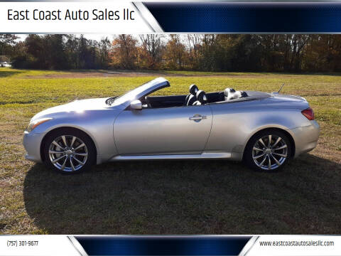 2010 Infiniti G37 Convertible for sale at East Coast Auto Sales llc in Virginia Beach VA
