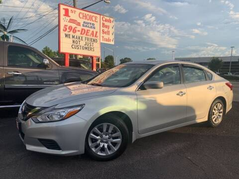 2017 Nissan Altima for sale at 1st Choice Auto Sales in Newport News VA