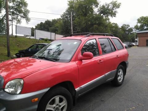 2003 Hyundai Santa Fe for sale at New England Motor Cars in Springfield MA