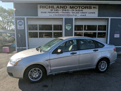 2010 Ford Focus for sale at Richland Motors in Cleveland OH