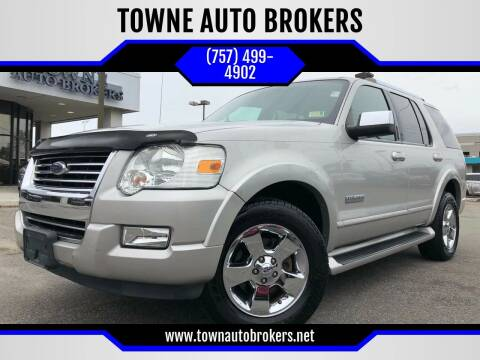 2006 Ford Explorer for sale at TOWNE AUTO BROKERS in Virginia Beach VA