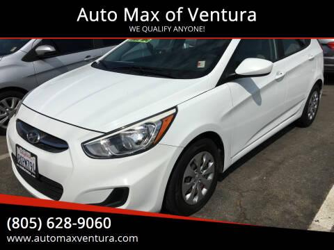 2017 Hyundai Accent for sale at Auto Max of Ventura in Ventura CA