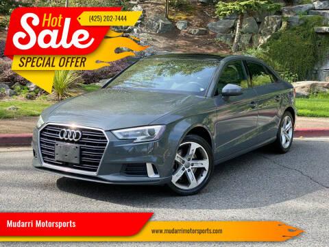 2018 Audi A3 for sale at Mudarri Motorsports in Kirkland WA