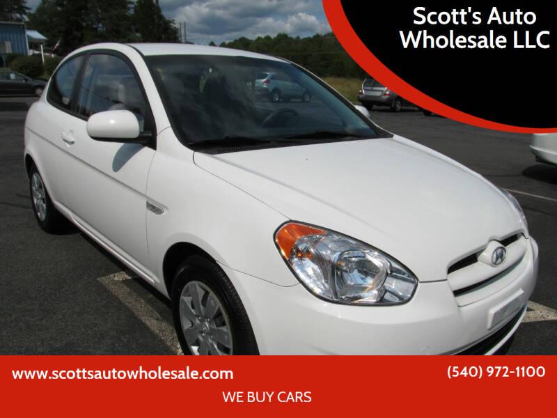 2010 Hyundai Accent for sale at Scott's Auto Wholesale LLC in Locust Grove VA