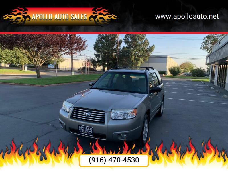 2006 Subaru Forester for sale at APOLLO AUTO SALES in Sacramento CA
