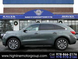2014 Acura MDX for sale at Highline Group Motorsports in Lowell MA