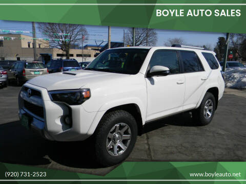 2015 Toyota 4Runner for sale at Boyle Auto Sales in Appleton WI