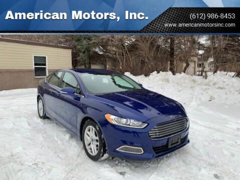 2016 Ford Fusion for sale at American Motors, Inc. in Farmington MN