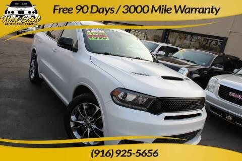 2019 Dodge Durango for sale at West Coast Auto Sales Center in Sacramento CA