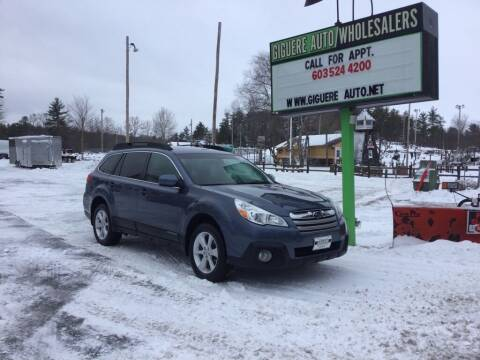 2013 Subaru Outback for sale at Giguere Auto Wholesalers in Tilton NH