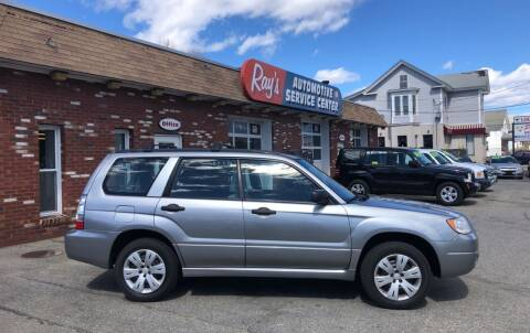 2008 Subaru Forester for sale at RAYS AUTOMOTIVE SERVICE CENTER INC in Lowell MA