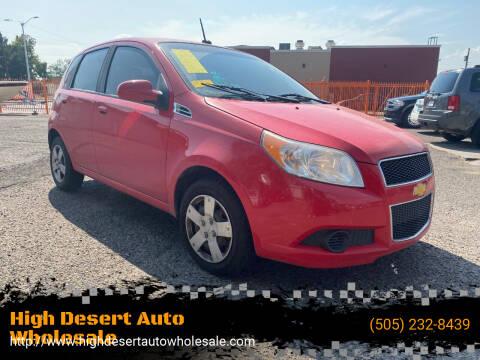 2011 Chevrolet Aveo for sale at High Desert Auto Wholesale in Albuquerque NM