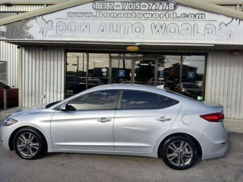 2018 Hyundai Elantra for sale at Don Auto World in Houston TX