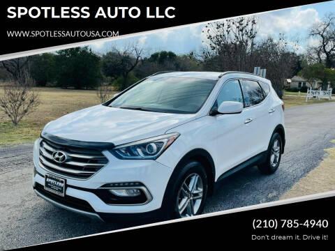 2017 Hyundai Santa Fe Sport for sale at SPOTLESS AUTO LLC in San Antonio TX