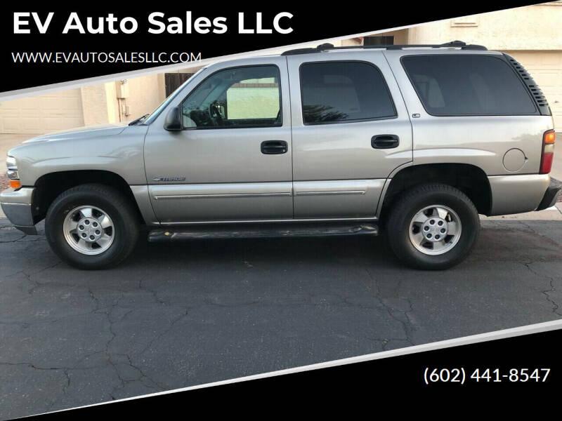 2000 Chevrolet Tahoe for sale at EV Auto Sales LLC in Sun City AZ