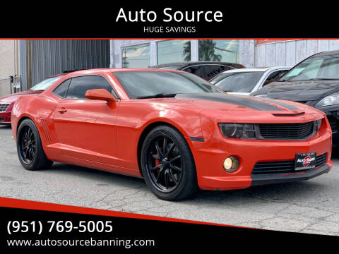 2010 Chevrolet Camaro for sale at Auto Source in Banning CA