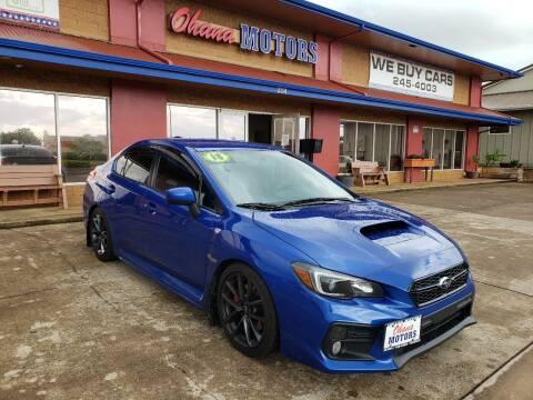 2018 Subaru WRX for sale at Ohana Motors in Lihue HI