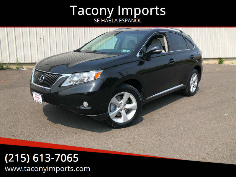 2011 Lexus RX 350 for sale at Tacony Imports in Philadelphia PA