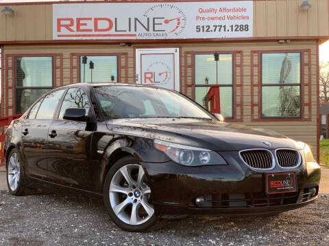 2006 BMW 5 Series for sale at REDLINE AUTO SALES LLC in Cedar Creek TX
