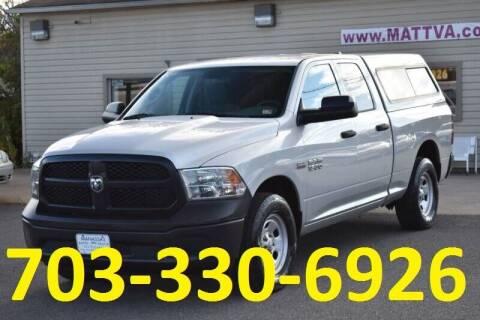 2015 RAM Ram Pickup 1500 for sale at MANASSAS AUTO TRUCK in Manassas VA