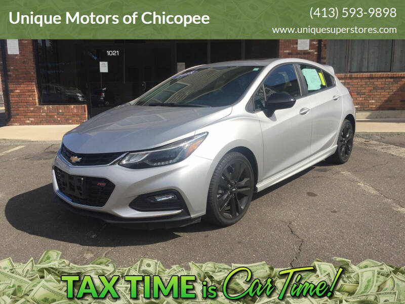 2018 Chevrolet Cruze for sale at Unique Motors of Chicopee in Chicopee MA