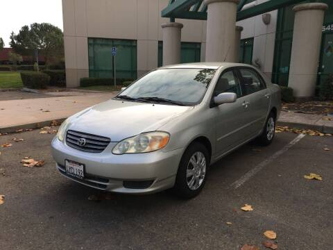 2003 Toyota Corolla for sale at Hi5 Auto in Fremont CA