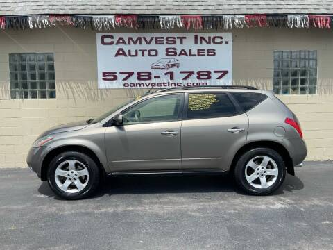 2004 Nissan Murano for sale at Camvest Inc. Auto Sales in Depew NY