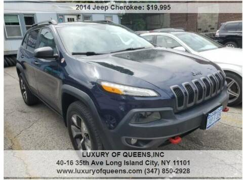 2014 Jeep Cherokee for sale at LUXURY OF QUEENS,INC in Long Island City NY