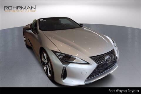 2021 Lexus LC 500 Convertible for sale at BOB ROHRMAN FORT WAYNE TOYOTA in Fort Wayne IN