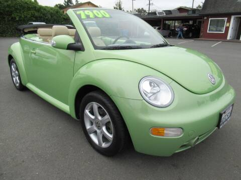 2004 Volkswagen New Beetle Convertible for sale at Tonys Toys and Trucks in Santa Rosa CA