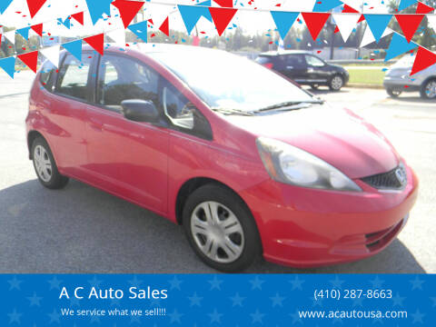 2009 Honda Fit for sale at A C Auto Sales in Elkton MD