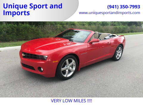 2012 Chevrolet Camaro for sale at Unique Sport and Imports in Sarasota FL