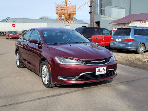 2015 Chrysler 200 for sale at J & S Auto Sales in Thompson ND