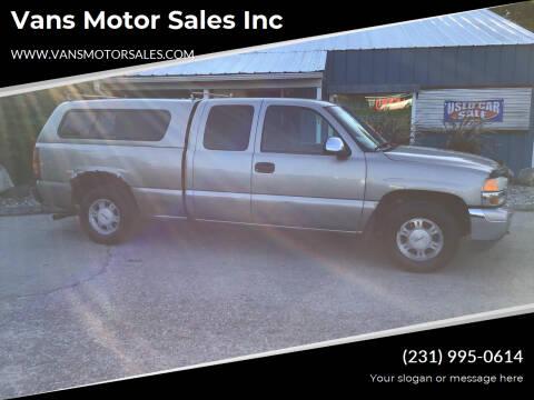 2002 GMC Sierra 1500 for sale at Vans Motor Sales Inc in Traverse City MI