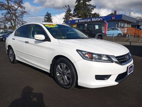2013 Honda Accord for sale at All American Motors in Tacoma WA