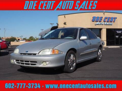 2002 Chevrolet Cavalier for sale at One Cent Auto Sales in Glendale AZ