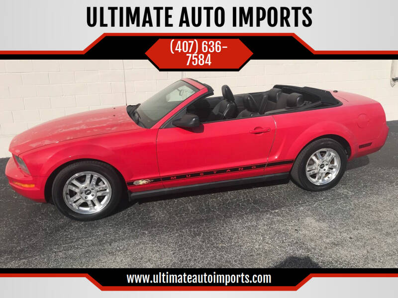 2007 Ford Mustang for sale at ULTIMATE AUTO IMPORTS in Longwood FL