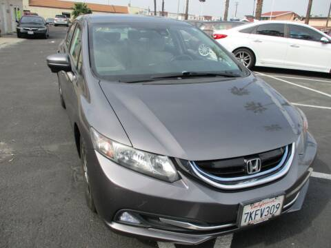 2015 Honda Civic for sale at F & A Car Sales Inc in Ontario CA