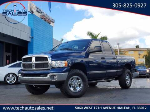2004 Dodge Ram Pickup 2500 for sale at Tech Auto Sales in Hialeah FL