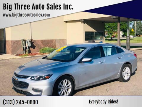 2019 Chevrolet Malibu for sale at Big Three Auto Sales Inc. in Detroit MI