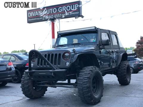 2008 Jeep Wrangler Unlimited for sale at Divan Auto Group in Feasterville PA