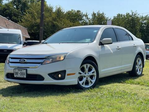 2012 Ford Fusion for sale at Texas Select Autos LLC in Mckinney TX