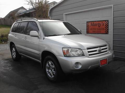 2005 Toyota Highlander for sale at Marty's Auto Sales in Lenoir City TN