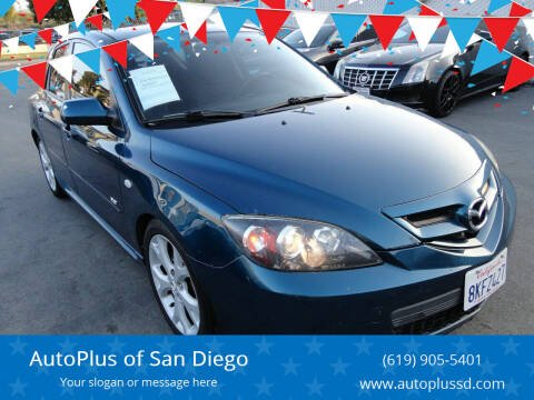 2007 Mazda MAZDA3 for sale at AutoPlus of San Diego in Spring Valley CA