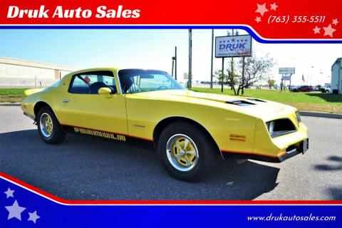 1977 Pontiac Firebird for sale at Druk Auto Sales in Ramsey MN