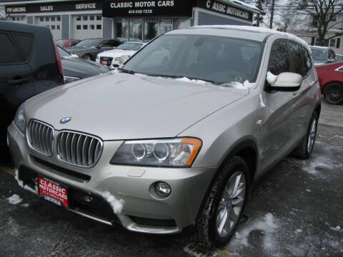 2014 BMW X3 for sale at CLASSIC MOTOR CARS in West Allis WI