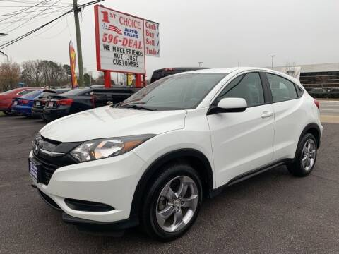 2018 Honda HR-V for sale at 1st Choice Auto Sales in Newport News VA