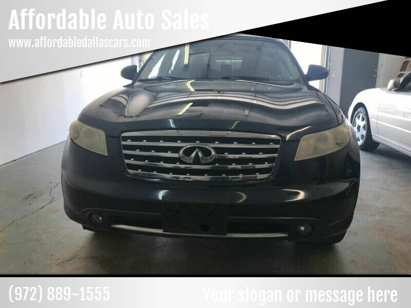 2008 Infiniti FX35 for sale at Affordable Auto Sales in Dallas TX